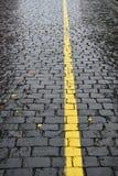 Dia chuvoso - ruas molhadas do outono imagem de stock royalty free