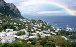 Dia chuvoso sobre Capri imagens de stock royalty free