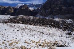 Dia claro do acampamento base de Annapurna Imagem de Stock Royalty Free