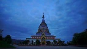 Dia colorido do pagode do lapso de tempo de HD à noite largamente video estoque