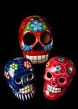 Dia colorido dos crânios inoperantes foto de stock