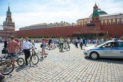 Dia da ação uniforme da bicicleta Fotografia de Stock