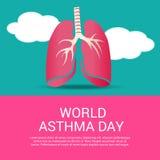 Dia da asma do mundo Fotos de Stock