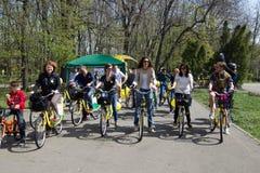 Dia da bicicleta de I'Velo Fotografia de Stock Royalty Free