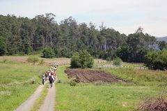 Dia da bicicleta na Espanha fotografia de stock