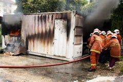 Dia da consciência e da segurança do incêndio de Malaysia Imagem de Stock Royalty Free