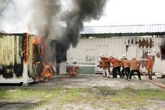 Dia da consciência e da segurança do incêndio de Malaysia Imagem de Stock
