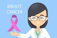 Dia da conscientização do câncer da mama ilustração stock