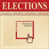 Dia da democracia ilustração stock