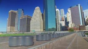 Dia da esplanada de East River do cais 15 que estabelece o tiro video estoque