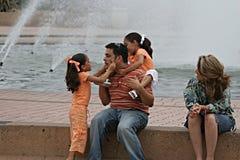 Dia da família no parque Foto de Stock