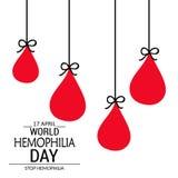 Dia da hemofilia do mundo Fotografia de Stock Royalty Free