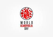 Dia da hemofilia do mundo ilustração royalty free