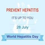 Dia da hepatite do mundo Imagens de Stock