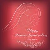 Dia da igualdade das mulheres felizes Foto de Stock