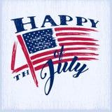 Dia da Independência americano ilustração do vetor