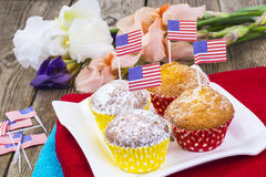 Dia da Independência americano, celebração, conceito do patriotismo - MU Imagens de Stock