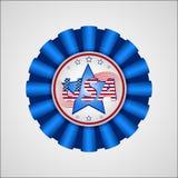 Dia da Independência americano Crachá do feriado Fotos de Stock