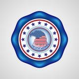 Dia da Independência americano Crachá do feriado Fotografia de Stock Royalty Free