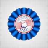 Dia da Independência americano Crachá do feriado Foto de Stock Royalty Free