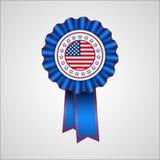 Dia da Independência americano Crachá do feriado Imagens de Stock Royalty Free