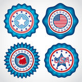 Dia da Independência americano Crachás do feriado Imagens de Stock Royalty Free