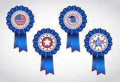 Dia da Independência americano Crachás do feriado Foto de Stock Royalty Free