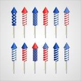 Dia da Independência americano Foguete do feriado Imagens de Stock Royalty Free