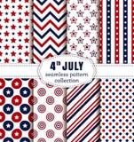 Dia da Independência americano Os testes padrões sem emenda ajustaram-se Fotografia de Stock