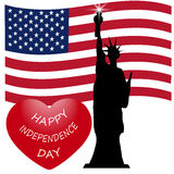 Dia da Independência americano, símbolos dos E.U., ilustração do vetor Imagem de Stock Royalty Free