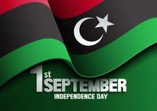 Dia da Independência da bandeira de Líbia ilustração stock