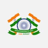 Dia da Independência de india, bandeira de india Fotos de Stock Royalty Free