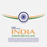 Dia da Independência de India 15o agosto ilustração stock