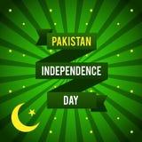 Dia da Independência de Paquistão Ilustração do vetor para o feriado do projeto Imagens de Stock Royalty Free