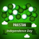 Dia da Independência de Paquistão Ilustração do vetor para o feriado do projeto Imagens de Stock