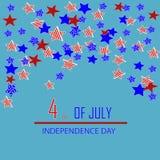 Dia da Independência do cartão Imagens de Stock Royalty Free