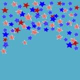 Dia da Independência do cartão Fotografia de Stock Royalty Free