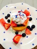 Dia da Independência do fruto de sobremesa Imagem de Stock