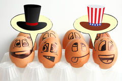 Dia da Independência dos E.U. O cilindro é um chapéu do ` s do presidente Imagens de Stock