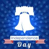 Dia da Independência dos EUA Liberty Bell Fita, nome do evento ilustração royalty free