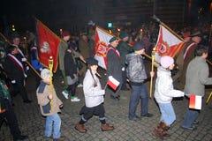 Dia da Independência em Poland - parada foto de stock