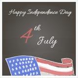 Dia da Independência feliz Fotos de Stock