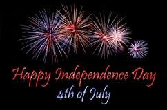Dia da Independência feliz Fotos de Stock Royalty Free