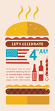 Dia da Independência FELIZ de América, cartão ou Fotografia de Stock