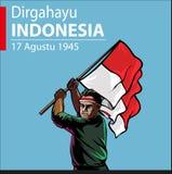 Dia da Independência indonésio Imagem de Stock