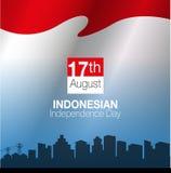 Dia da Independência indonésio Fotografia de Stock
