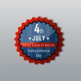 Dia da Independência o 4 de julho Dia da Independência feliz Imagens de Stock Royalty Free