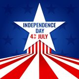 Dia da Independência 4o dos EUA de projeto americano da bandeira de julho para a ilustração do vetor com estrelas ilustração stock