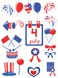 Dia da Independência, ícones Foto de Stock