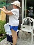 Dia da lavagem fora Foto de Stock Royalty Free